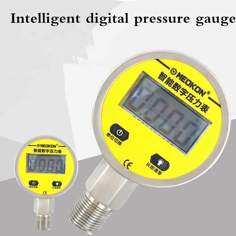 Pression électronique intelligente 0.6Mpa-25Mpa de pression d'eau d'huile et de gaz d'acier inoxydable d'affichage numérique de manomètre