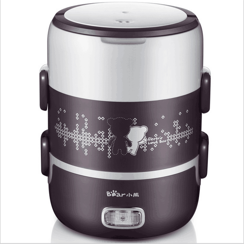 220V/270W Multifunctional Mini 2L Electric Rice Cooker Stainless Steel Inner Lunch Box Multi Cooker With Vacuum Pump EU/AU/UK/US 110v 220v dual voltage travel cooker portable mini electric rice cooking machine hotel student multi stainless steel cookers