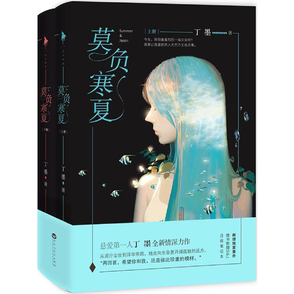 New Dingmo newest novels Chinese book love story book for adults Chinese popular novel -Summer & Jason,set of 2 books image