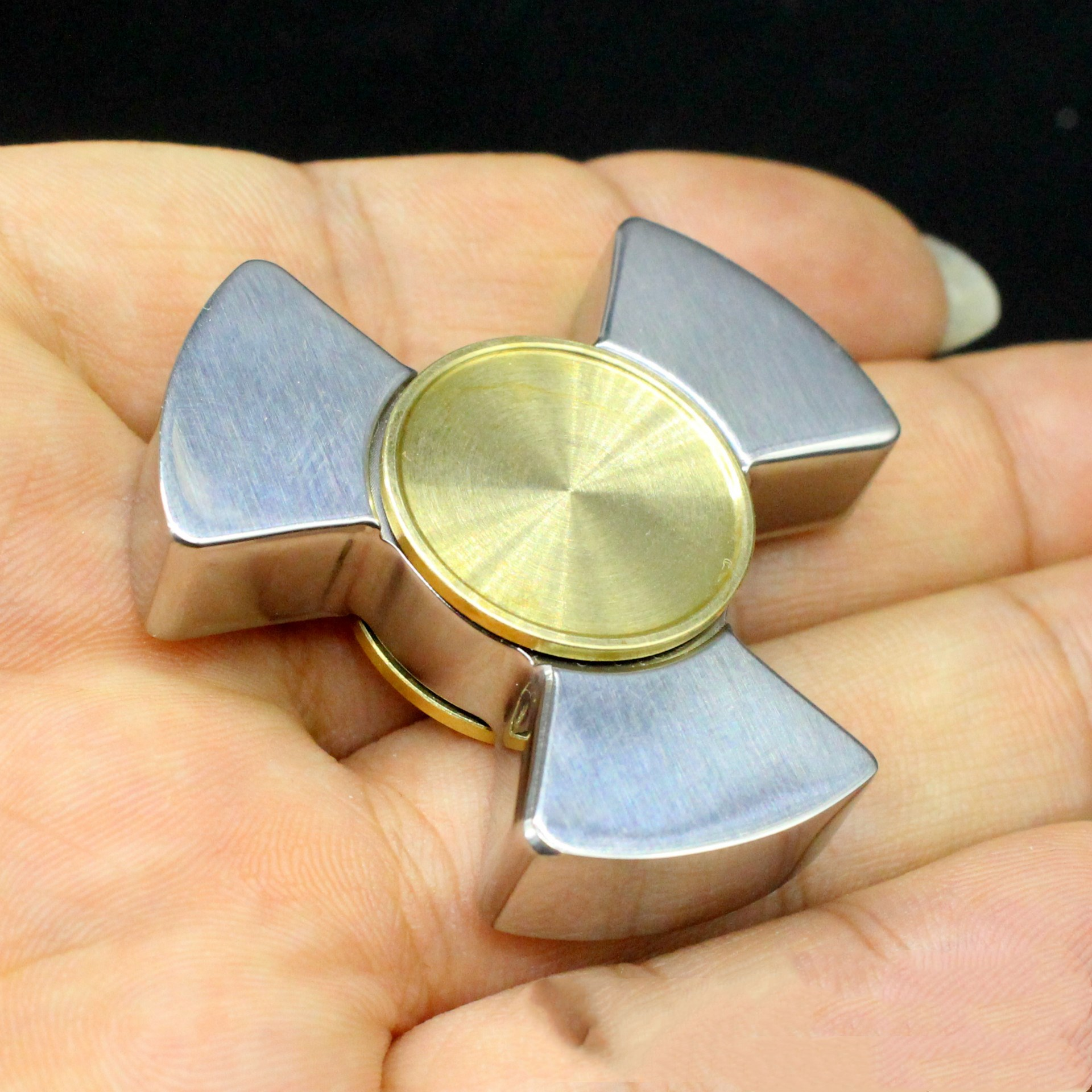 Tri Fidget Hand Spinner Metal Triangle Torqbar Alloy Puzzle Finger Toy EDC Hand Spinner ADHD Stress