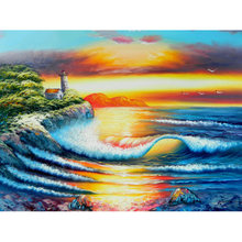 2018 new product square full drill diamond painting square diamond embroidery landscape Diamond Mosaic Cross Stitch ZWQ(China)