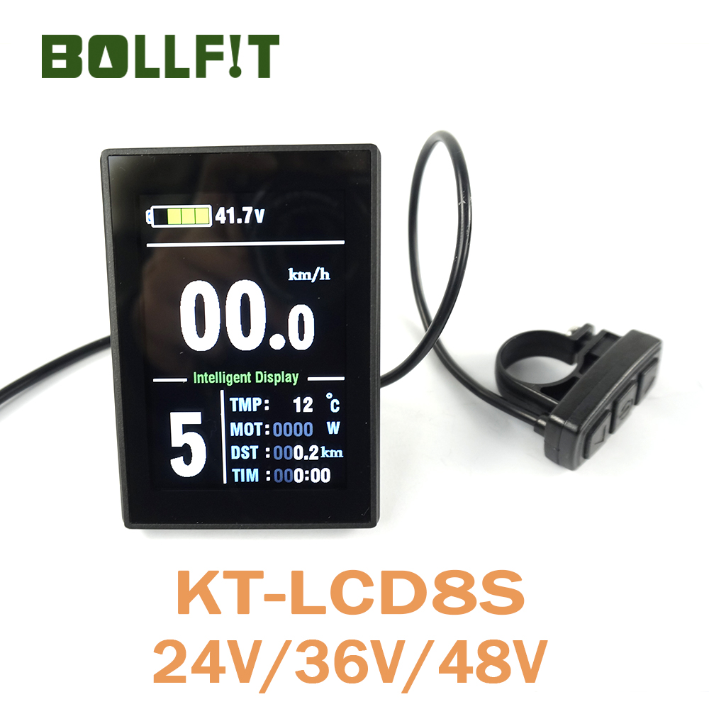 BOLLFIT Free Shipping KT Kunteng LCD8S New Arrival Electric Bicycle AccessoriesDisplay Electrice Bike Lcd Ebike Sets