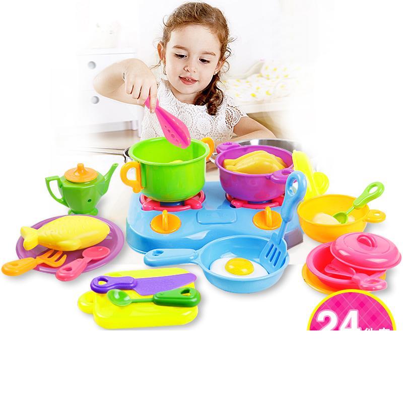 Baby simulation toys child mini kitchen toys set little for Mini kitchen playset