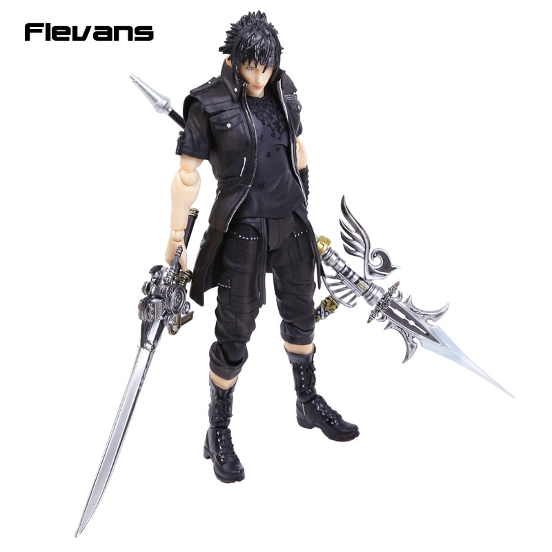 Playarts KAI <font><b>Final</b></font> <font><b>Fantasy</b></font> <font><b>XV</b></font> FF15 Noctis Lucis Caelum PVC Action <font><b>Figure</b></font> Collectible Model Toy image
