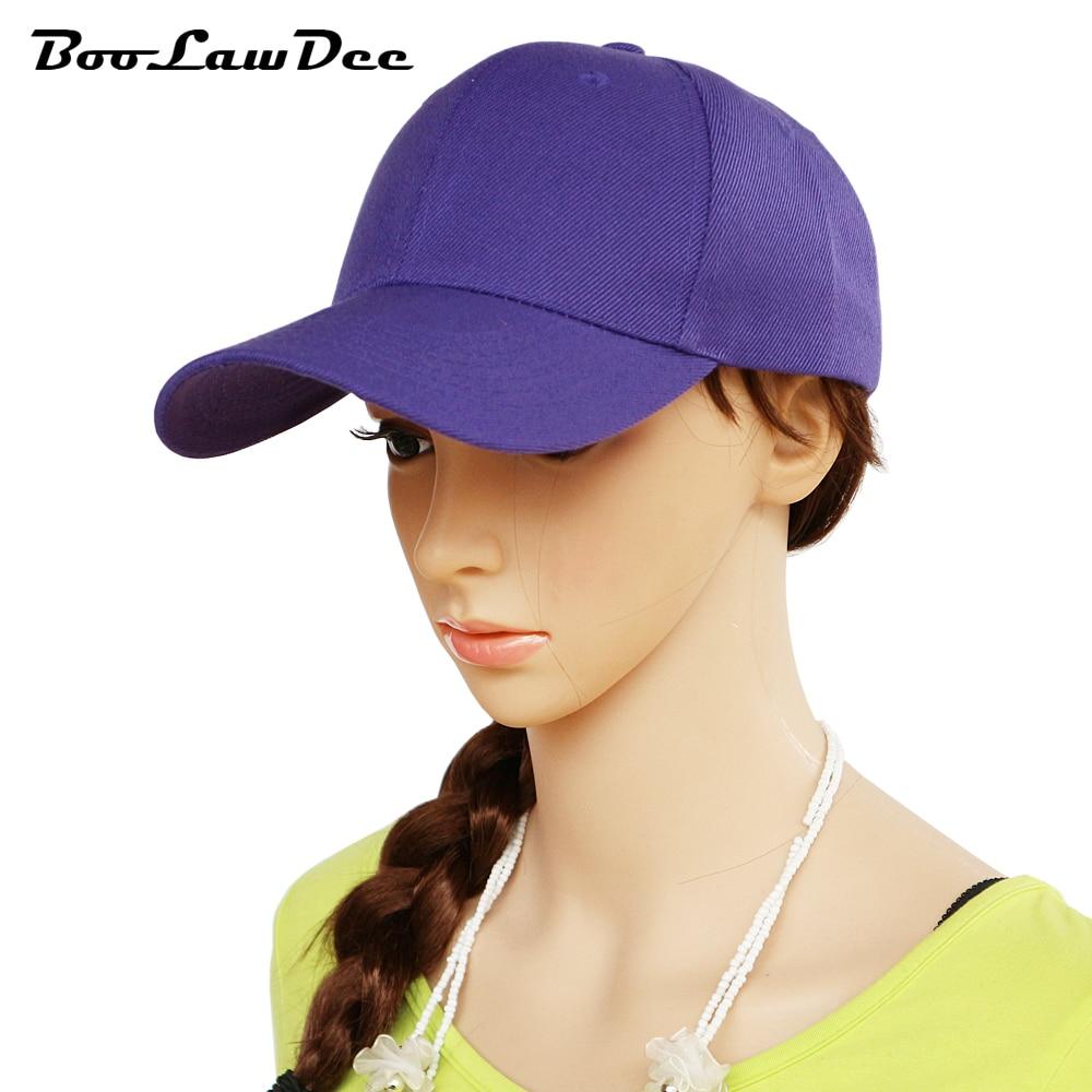 Prix pour BooLawDee Hommes et femmes courbé visor dôme top d'été casquette de baseball 56-59 cm réglable rouge noir blanc violet bleu rose 00A-00