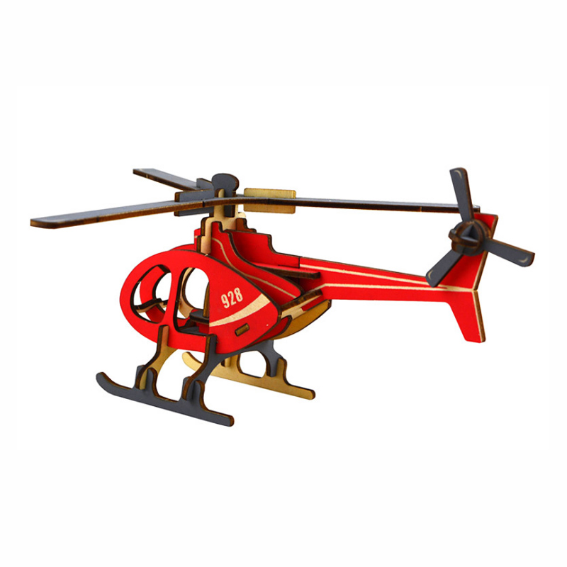 New 3D Wood Puzzle Children Adults Helicopte Puzzles Wooden Toys Learning Education Envi ...