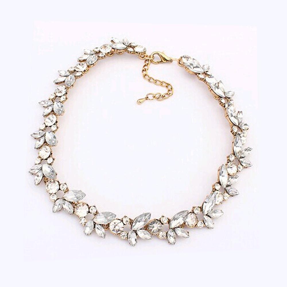2019 nouveau gros chaud femmes accessoires bohême Style luxe cristal fleur Choker bavoir déclaration collier pour fête de mariage 1