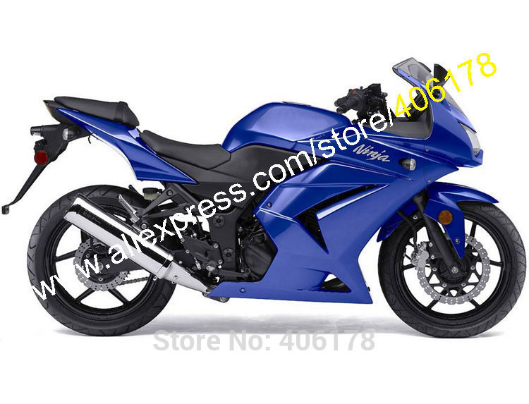 Hot Sales,Full Blue Body Kit For Kawasaki Ninja ZX 250R 2008 2009 2010 2011 2012 EX250 08-12 ABS Fairing Kit (Injection molding)