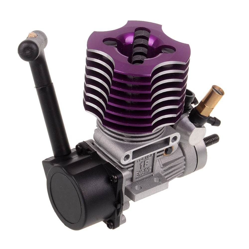 HSP 02060 VX 18 Engine 2.74cc Pull Starter Purple RC 1/10 Nitro Car On-road Car Buggy Monster Bigfoot Truck 94122 94166 94188 двигатель super tigre 18 nitro купить