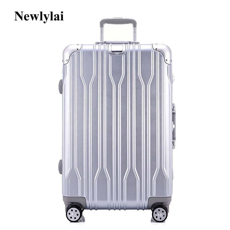 Newlylai aluminum frame pull rod box 20 inch boarding box 24 inch universal wheel suitcases men and women 26/29 inch luggage