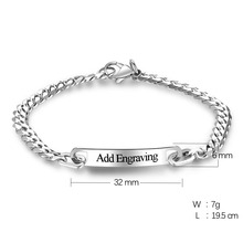 Personalized ID Bracelet Silver Color