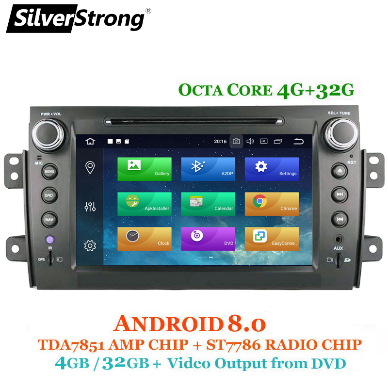 SilverStrong 2Din Android8.0 Car DVD For SUZUKI SX4 Mp3 Audio DVD Navigation GPS SX4 for Suzuki Stereo DSP Option 7.1+2GB+16GB silverstrong 8inch 2din android7 1 radio car dvd for suzuki sx4 mp4 mp3 radio navitel gps navi