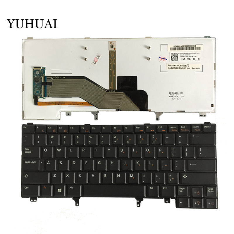 New US Keyboard For Dell Latitude E5420 E5430 E6220 E6230 E6320 E6330 English Laptop Keyboard With Backlit new us keyboard for acer aspire vn7 793g vx5 591g vx5 591g 52wn us laptop keyboard with backlit