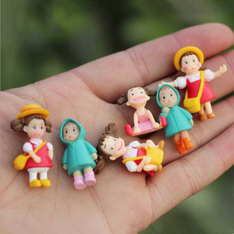 1 pcs Kawaii שלי השכן Totoro פעולה איור הייאו מיאזאקי סרט מיניאטורי צלמיות צעצועי יפני חמוד אנימה צעצוע דמויות