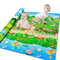 New Large Children Play Mat 2.0*1.8M Botanical Garden+Forest Park Baby Crawling Mat Kids Picnic Carpet