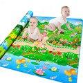 Novo Grande Children Play Mat 2.0*1.8 M Jardim Botânico + Parque Florestal Do Bebê Crawling Mat Crianças Tapete de Piquenique
