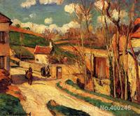 Oil painting Landscape Crossroads at l Hermitage, Pontoise Camille Pissarro artworks Hand painted High quality