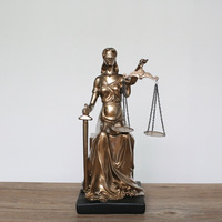 1pc New Retro Home Jewelry Statue of Justice Themis Creative Resin Character Furniture Decoration ornament