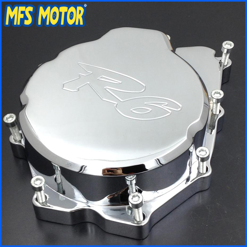 Freeshipping Motorcycle Left side Engine Stator cover For Yamaha YZF-R6 YZF R6 2006-2013 CHROME military tactical camouflage drop leg thigh magazine pouch 5 56mm and pistol magzine airsoftsports paintball hunting accessory