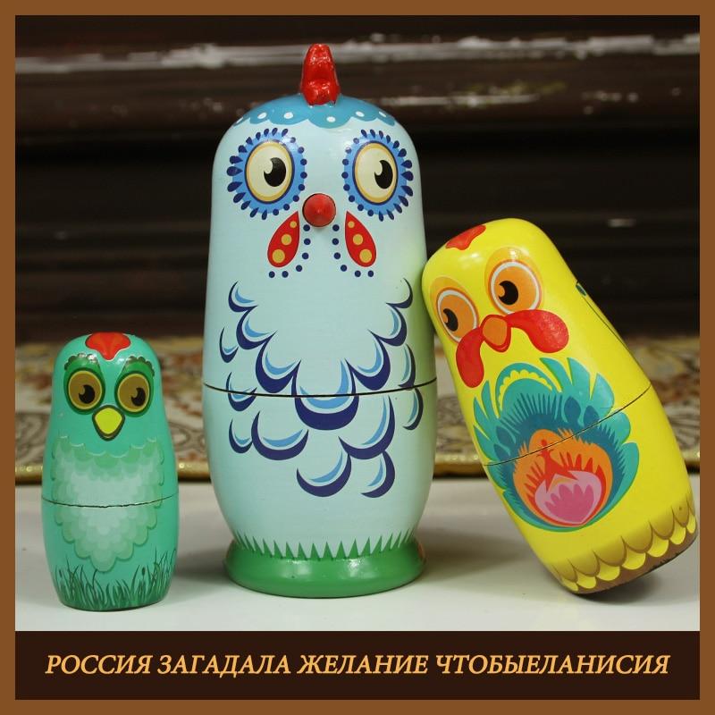 2019 new painted matryoshka doll diy paint skill training blank wooden embryos russian nesting dolls toy educational