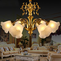 American retro classic copper chandelier European copper lamp living room dining room study lamp shade downlight AP4181143