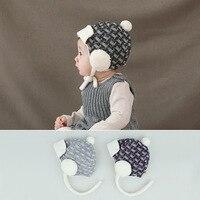 Godier Inverno Cappello Caldo Del Bambino Infant Toddlers Ragazzi Ragazze più velluto tappi Morbido Paraorecchie Cappello Skulies Berretti Bambini dimensione F per 0-24 M