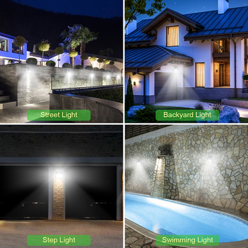 100 LED Solar Light Outdoor Solar Lamp PIR Motion Sensor Wall Light Waterproof Solar Powered Sunlight for Garden Decoration 4