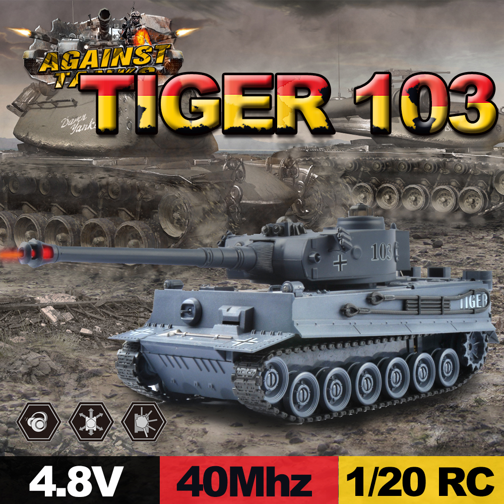 Details about GizmoVine RC Tank Germany Tiger 103 Fighting Battle Tank  Remote Control Toys