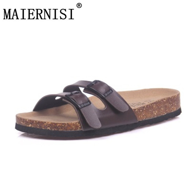 4fc35cd03a92 New 2018 Slides Summer Style Shoes Womens Orthotic Sandals Cork Slippers  Slip-on Casual Classics Flip Flop Size 35-43 Shoe