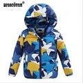 WEONEDREAM Nuevos Niños Por la Chaqueta Para Niño Ropa de Bebé de Moda invierno Abajo Capa Caliente Del Bebé traje para la Nieve Niños Niños Con Capucha Corta escudo