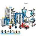 870 unids Comisaría Modelo Kit de Construcción de Bloques de Construcción Ladrillos Educativos Compatible con legoe Ciudad Amigos Juguetes de Los Niños