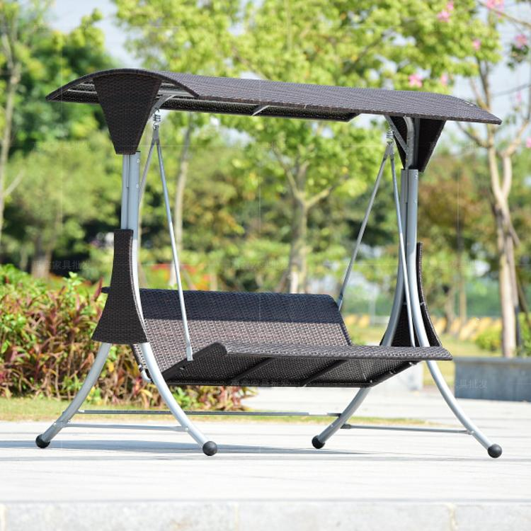 Outdoor Landscaped Garden Swing Hanging Chair Rocking Rattan Chairs