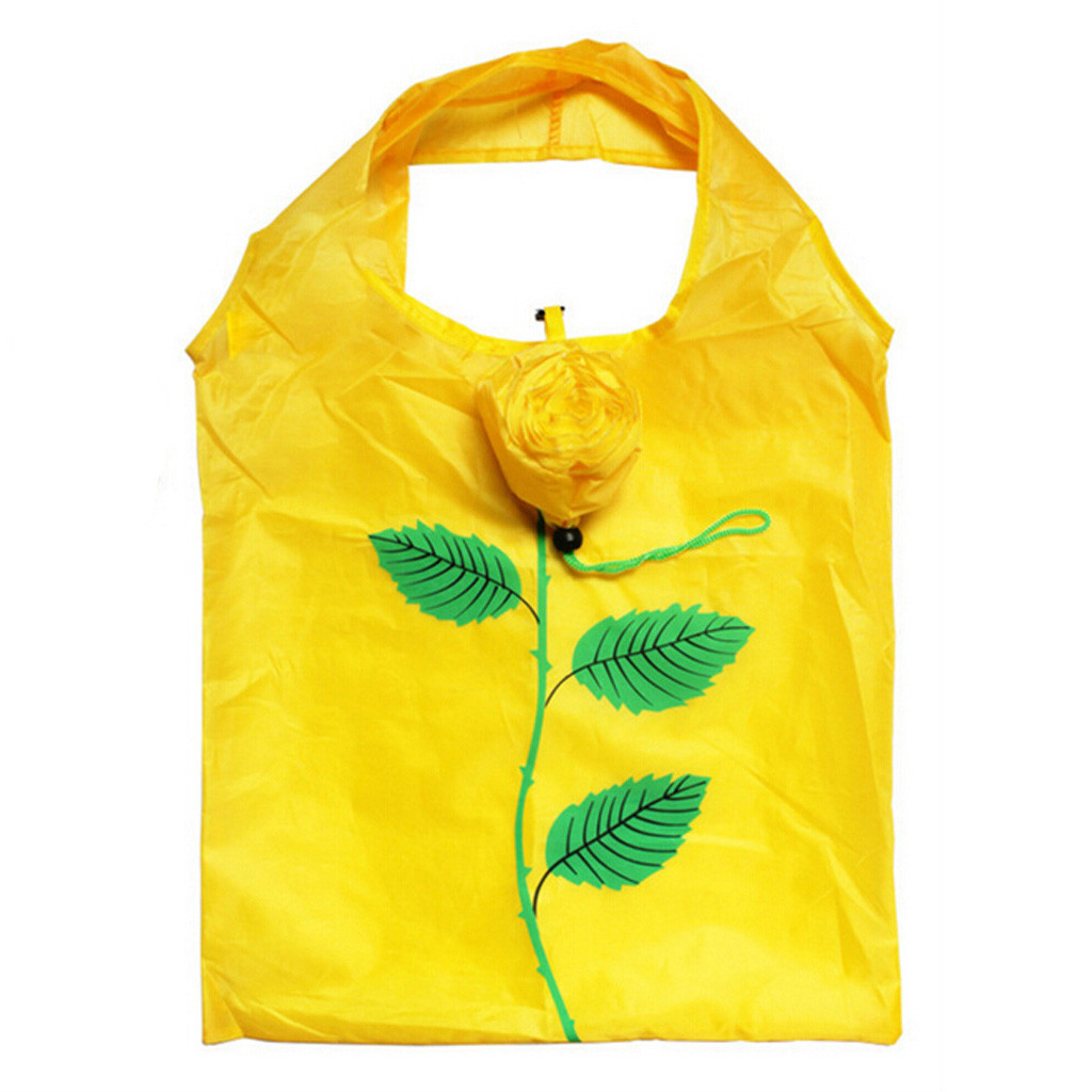 Heißer Tasche Frauen Reusable Einkaufstasche Für Kinder Rose Floral Print Wasserdicht Einfache Große Kinder Reise Für Mütter Faltbare Tasche