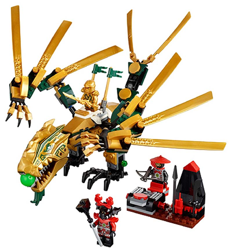 Toys for children CHINA BRAND 9793 self locking bricks Compatible with Lego Ninjago The Golden Dragon