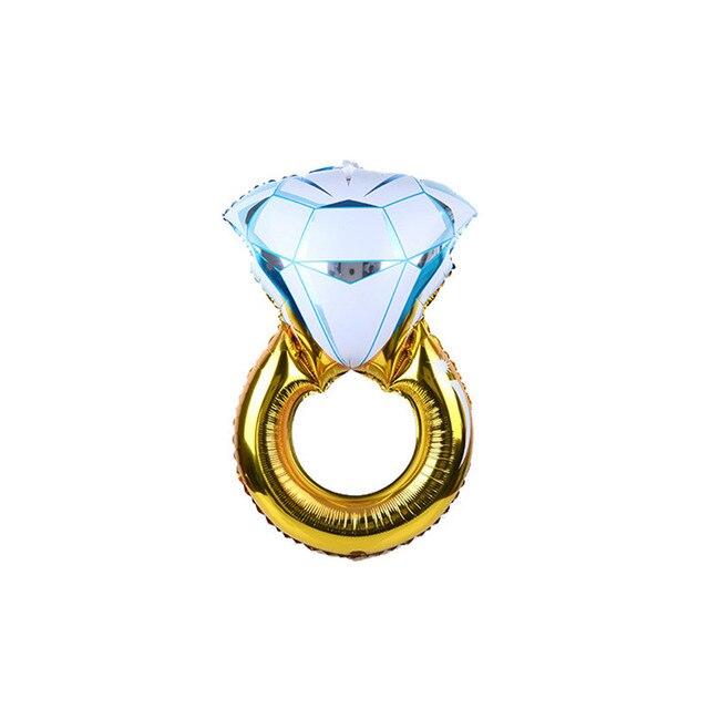Золотое кольцо с бриллиантом форма фольга гелиевые шары подарок ко Дню  Святого Валентина праздничное украшение для e7e1bb7a824
