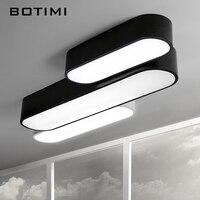 BOTIMI Nowoczesne Metalowe Długie Lampy Sufitowe LED lamparas de techo Kuchnia Światło Z Pilotem Powrót Biały Korytarz Salon Lampy