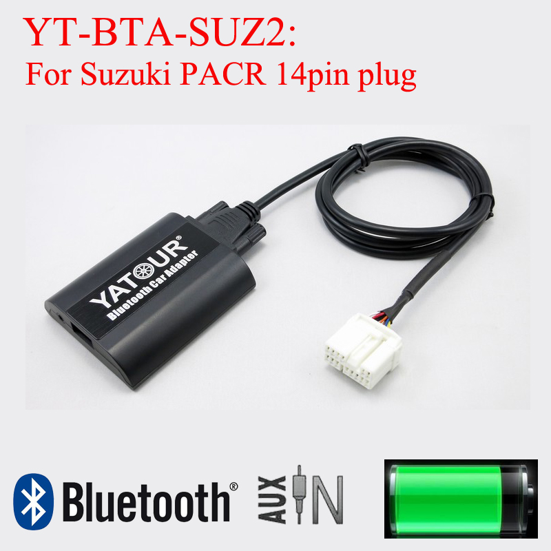 Yatour Bluetooth adapter MP3 digital music adapter for Suzuki PACR 14pin plug radios car usb sd aux adapter digital music changer mp3 converter for volkswagen beetle 2009 2011 fits select oem radios
