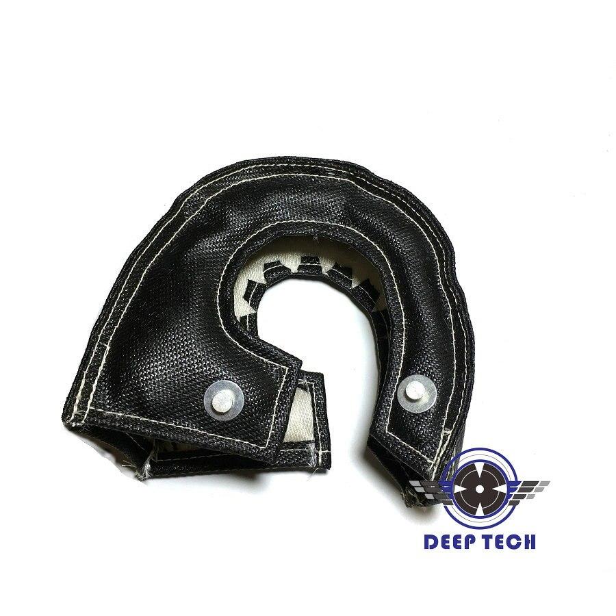 Image 2 - T3 Black Colour Glass Fiber Turbo Blanket Jacket Heat Shield Cover Turbocharger Jacket For T25 T3 Turbo