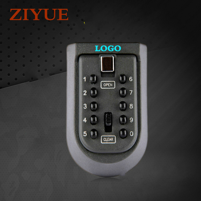 Free  Shipping l Hanging Wall Mechanical Keypad Padlock Wall-Mounted Key Storage Key Safe Box with 10-digit Combination Lock hot sale 2017 cost effective best price lockable security metal key cabinet storage box safe 20 tags fobs wall mounted