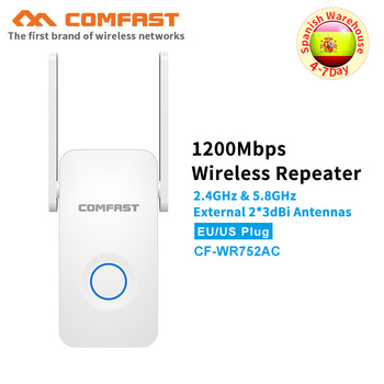 COMFAST 1200Mbps Wifi Repeater AC Wifi Router 5.8Ghz 867Mbps + 2.4Ghz 300Mbps Access Point Range extender WiFi Signal booster AP