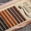 Профессиональный Индивидуальные Подражать Норки Ложные Брови Расширения Природных Постоянный Бровей 0.10 мм J Curl Смешанный Цвет 4 мм