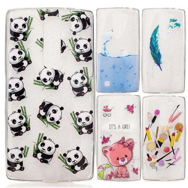 US $2 99 |Icecream Panda Pineapple Cat Feather Seal Lipstick Girl Painted  Silicon TPU Soft Cover Case for LG G4 Mini H502F H525N H500 G4c on