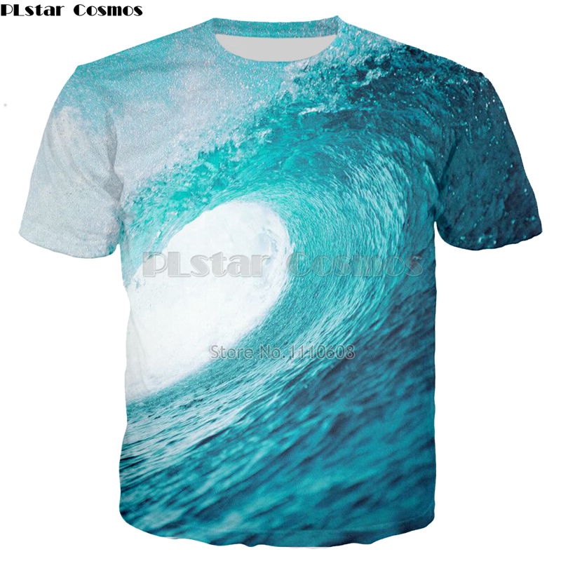 PLstar Cosmos Hot New Waves Pattern 3d print T-shirt Casual Men/Women summer tshirt fashion short shirt free shipping tops