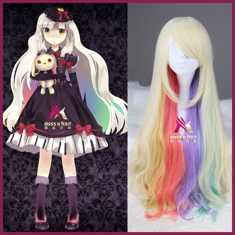 Synthetic Wigs Miss U Hair Girl Synthetic 85cm Long Straight Dark Purple Colorhalloween Hair Cosplay Costume Full Wig Punctual Timing