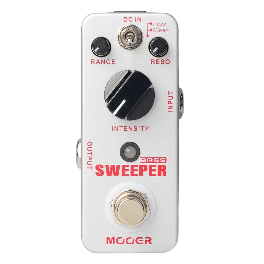 Mooer Sweeper Bass Dynamic Envelope Filter Pedal for Bass and Guitar True Bypass MFT1 mooer ensemble queen bass chorus effect pedal mini guitar effects true bypass with free connector and footswitch topper