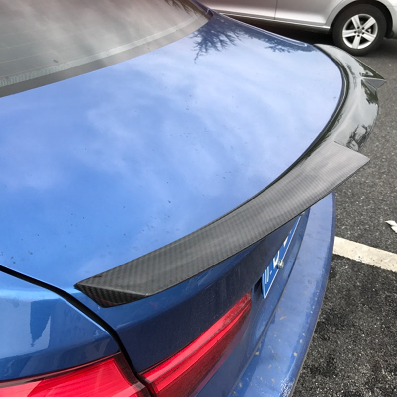 F30 M4 Style Spoiler Carbon Fiber Rear Trunk Back Wing For BMW 3 Series F30 F80 M3 2012 - 2017 4-Door Sedan 316i 320i 328i hot car abs chrome carbon fiber rear door wing tail spoiler frame plate trim for honda civic 10th sedan 2016 2017 2018 1pcs