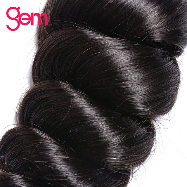Online Shop Indian Remy Hair Loose Wave Bundles Hair Extensions 100