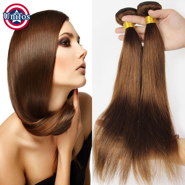 8a Brazilian Brown Hair Weave Bundles Straight Light Brown Hair