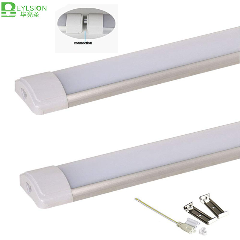 10pc/lot 10W 20W 40W LED <font><b>Tube</b></font> Linear Light Batten Clean Purification Light LED Tri-proof Light purified <font><b>Tube</b></font> lamp For Garage image