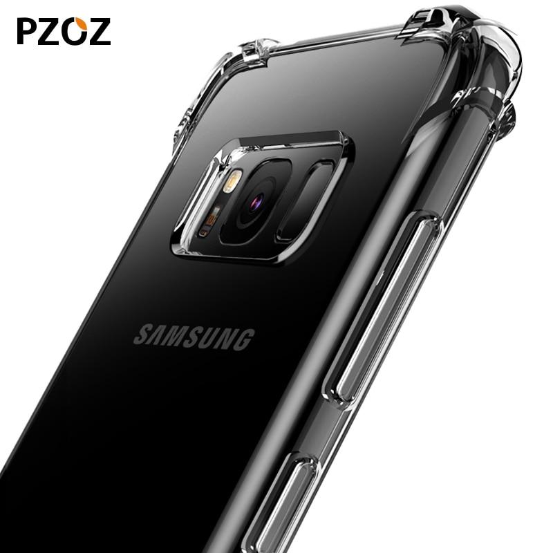 PZOZ Samsung Note 9 Case S9 S8 սիլիկոնային շքեղ - Բջջային հեռախոսի պարագաներ և պահեստամասեր - Լուսանկար 2